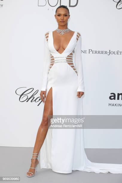 Lais Ribeiro arrives at the amfAR Gala Cannes 2018 at Hotel du CapEdenRoc on May 17 2018 in Cap d'Antibes France