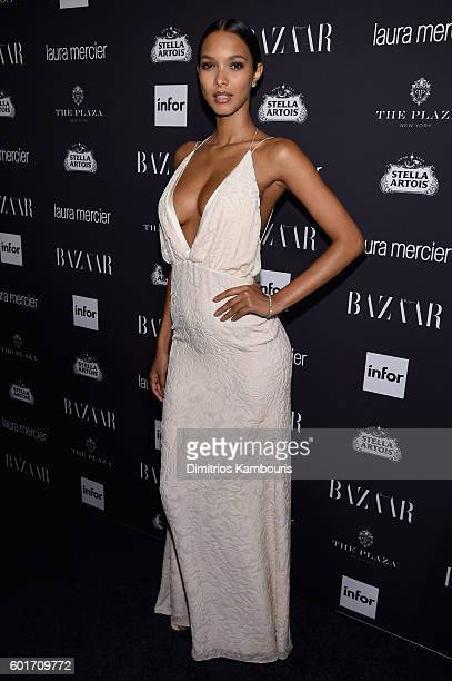 "Lais Ribeiro attends Harper's Bazaar's celebration of ""ICONS By Carine Roitfeld"" presented by Infor, Laura Mercier, and Stella Artois at The Plaza..."