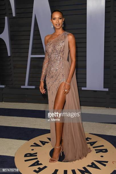 Lais Ribeiro attends the 2018 Vanity Fair Oscar Party hosted by Radhika Jones at the Wallis Annenberg Center for the Performing Arts on March 4 2018...