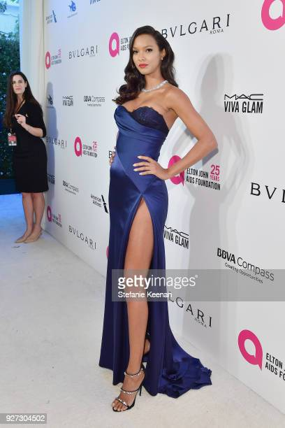 Lais Ribeiro attends the 26th annual Elton John AIDS Foundation Academy Awards Viewing Party sponsored by Bulgari celebrating EJAF and the 90th...