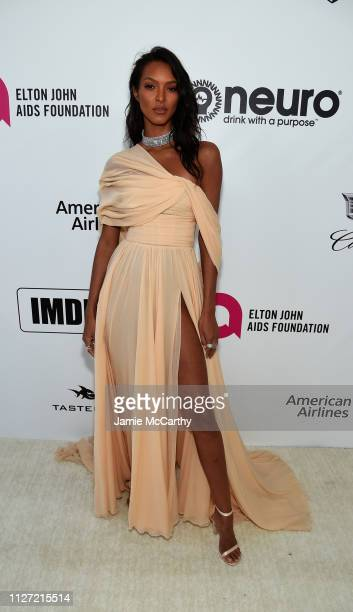 Lais Ribeiro attends the 27th annual Elton John AIDS Foundation Academy Awards Viewing Party sponsored by IMDb and Neuro Drinks celebrating EJAF and...