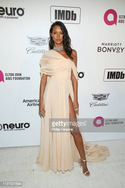 Lais Ribeiro attends the 27th Annual Elton John AIDS Foundation Academy Awards Viewing Party Celebrating EJAF and The 91st Academy Awards on February...