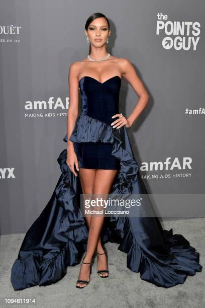 Lais Ribeiro attends the amfAR New York Gala 2019 at Cipriani Wall Street on February 6 2019 in New York City