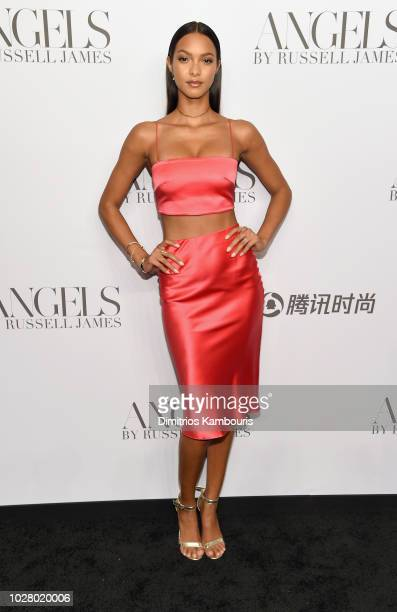 Lais Ribeiro attends the 'ANGELS' by Russell James book launch and exhibit hosted by Cindy Crawford and Candice Swanepoel at Stephan Weiss Studio on...