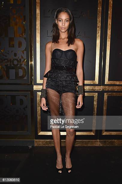 Lais Ribeiro attends the Gold Obsession Party L'Oreal Paris Photocall as part of the Paris Fashion Week Womenswear Spring/Summer 2017 on October 2...