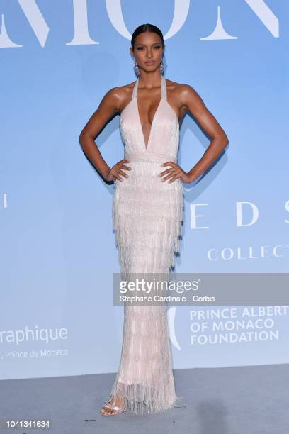Lais Ribeiro attends the MonteCarlo Gala for the Global Ocean 2018 on September 26 2018 in MonteCarlo Monaco