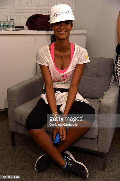 Lais Ribeiro attends Victoria's Secret Angel Supermodel Cycle For Pelotonia on July 9 2014 in New York City