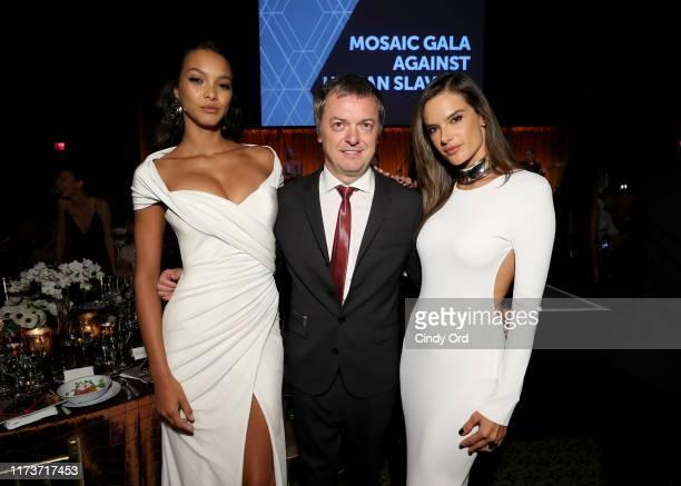 Lais Ribeiro Mo Stojnovic and Alessandra Ambrosio attend the Mosaic Federation Gala Against Human Slavery on September 10 2019 at Cipriani 42nd...