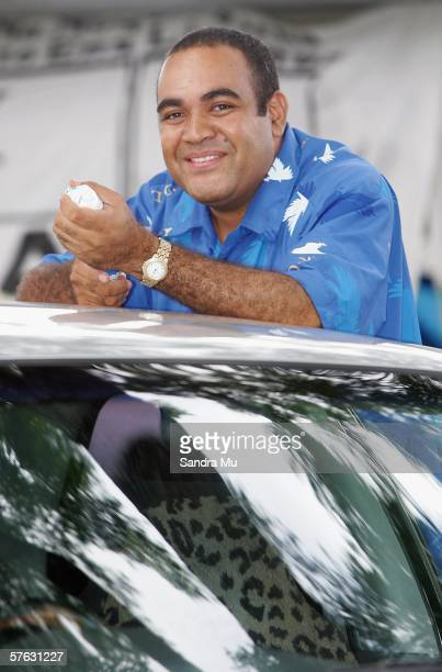Laisenia Qarase son of Newly elected Prime Minister Laisenia Qarase shares a smile at Suva Grammar School where the Central count station was based...