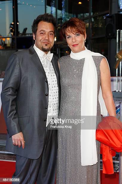 Laith AlDeen and his wife Melanie AlDeen attend the Radio Regenbogen Award 2014 on April 11 2014 in Rust Germany
