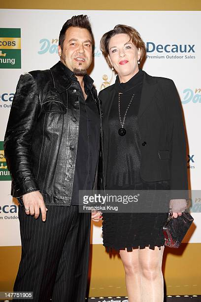Laith AlDeen and Melanie attend the Golden wife Awards at the Axel Springer Haus on March 21 2012 in Berlin Germany