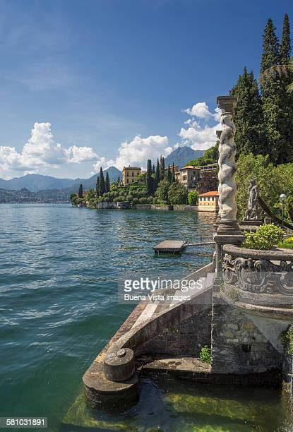 Lake access of a Villa on Lake Como