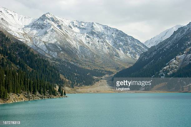 lake almaty - kazakhstan stock pictures, royalty-free photos & images