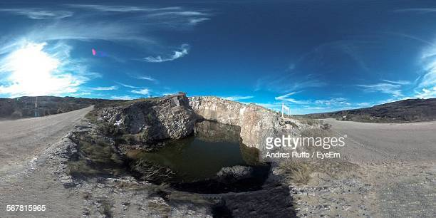lake along rocky landscape - andres ruffo stock pictures, royalty-free photos & images