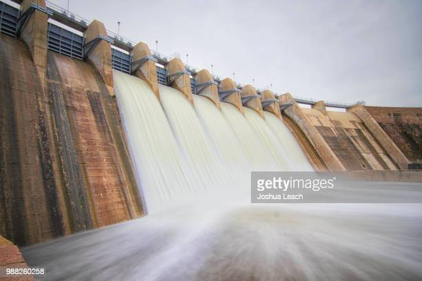 lake altus dam - hydroelectric power stock pictures, royalty-free photos & images