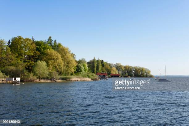 Lake Ammer at Riederau, municipality of Diessen, Five Lakes region, Upper Bavaria, Bavaria, Germany