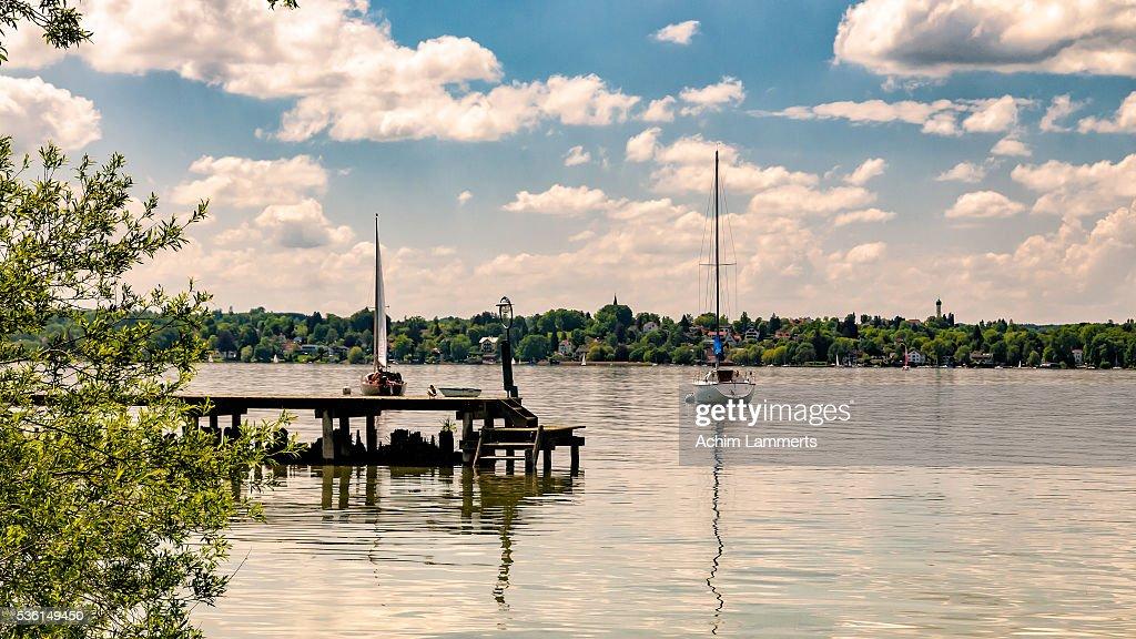 Lake Ammersee, Upper Bavaria : Stock-Foto
