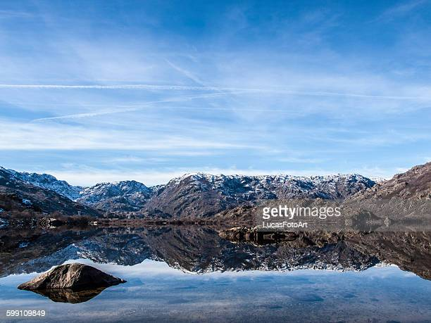 lake and mountain - zamora stock pictures, royalty-free photos & images