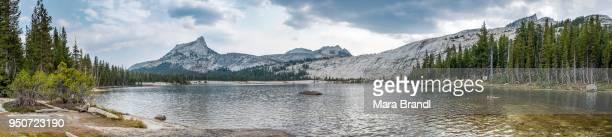 Lake and mountains, Cathedral Peak, Lower Cathedral Lake, Sierra Nevada, Yosemite National Park, Cathedral Range, California, USA