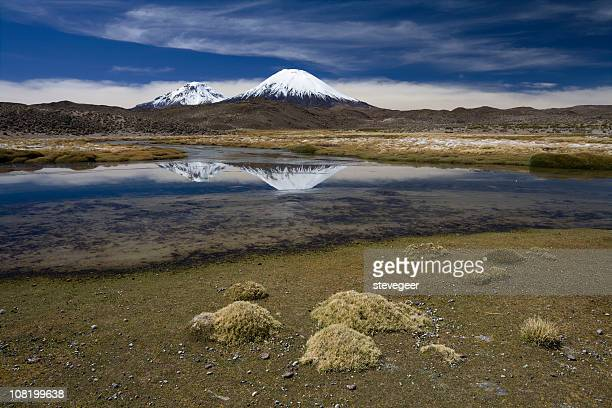 See und zwei Vulkane