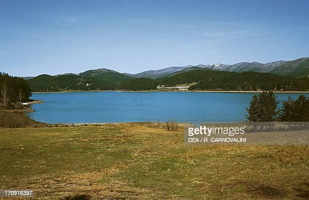Lake Arvo Sila Grande mountainous plateau Sila National Park Calabria Italy