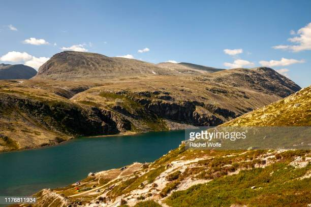 lake at rondane fjellstue - rachel wolfe stock photos and pictures