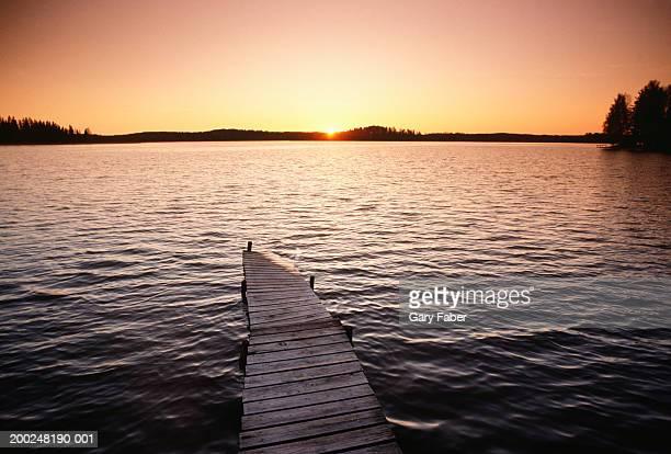 Lake at sunset, Lake Region, Finland