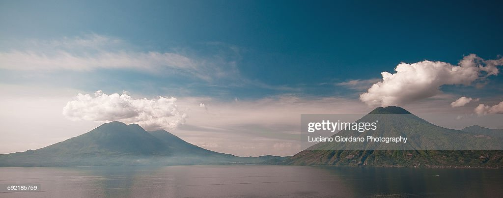 Lake Atitilan view : Stock Photo