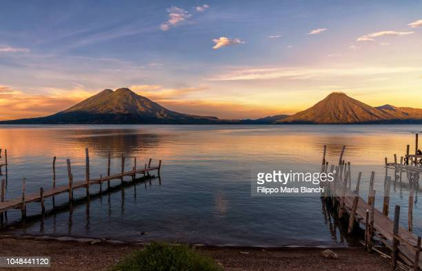 lake atitlan (guatemala) - guatemala stock pictures, royalty-free photos & images