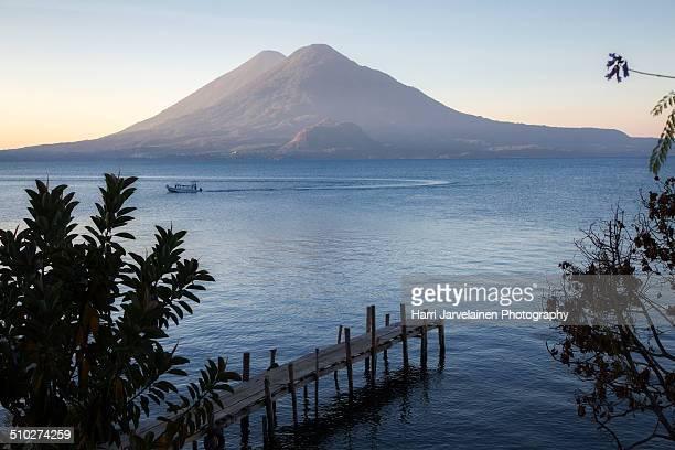 Lake Atitlán at sunrise, Guatemala