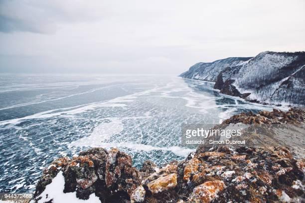 Lake Baikal from above Uzur