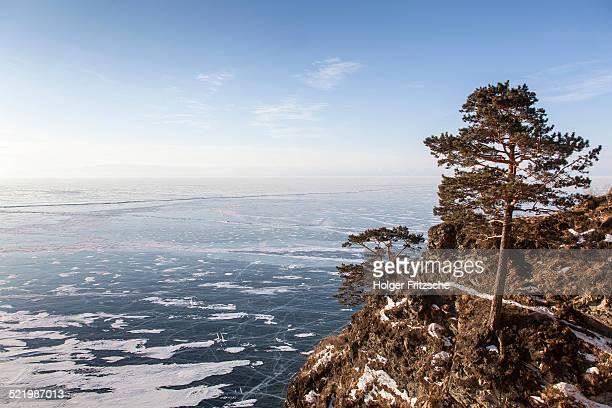 Lake Baikal in winter, western shore, Lake Baikal Region, Siberia, Russia