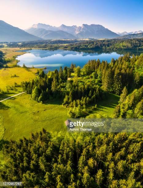 lake barmsee, bavaria, germany - bavaria stock pictures, royalty-free photos & images