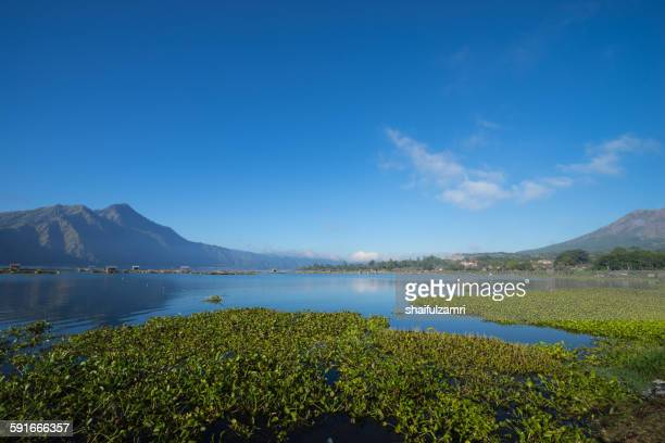 lake batur in bali - shaifulzamri stock pictures, royalty-free photos & images