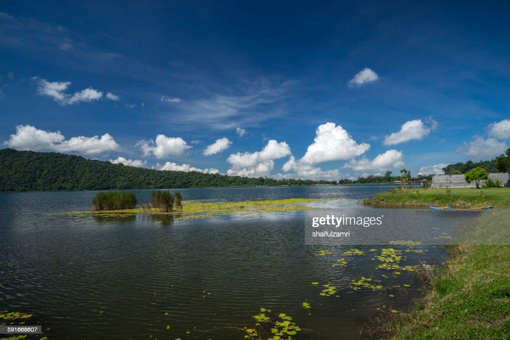 Lake Batur in Bali : Stock Photo