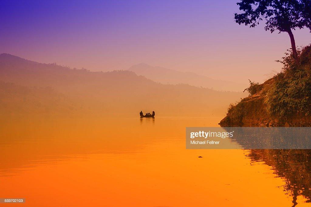 Lake Begnas in Nepal : Foto stock