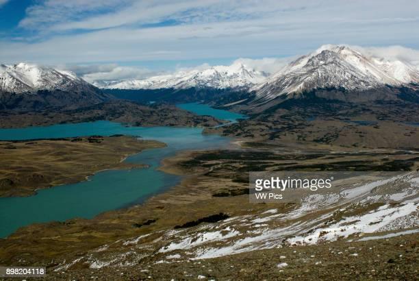 Lake Belgrano view from Cerro Leon Perito Moreno National Park Southern Andean Patagonia Santa Cruz Argentina