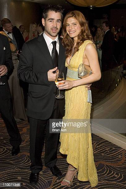 Lake Bell and Colin Farrell during Chopard Supports the ASPCA at the Bergh Ball at Mandarin Hotel in New York, United States.