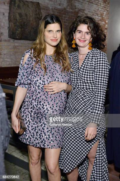 Lake Bell and Gaby Hoffmann attend Rachel Comey Fall Winter 2017 Collection Presentation on February 7 2017 in Los Angeles California