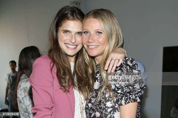 Lake Bell and Gwyneth Paltrow attend the In goop Health Summit at 3Labs on June 9 2018 in Culver City California