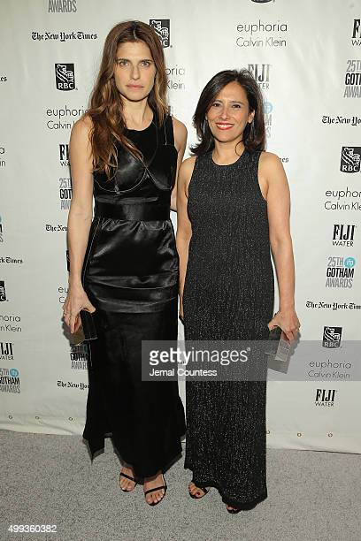 Lake Bell and Joana Vicente attend the 25th IFP Gotham Independent Film Awards cosponsored by FIJI Water on November 30 2015 in New York City