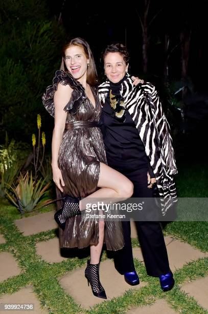 Lake Bell and Lisa Eisner attend a private dinner to celebrate the One Year Anniversary of Beboe hosted by Lake Bell Lisa Eisner Assia Grazioli and...