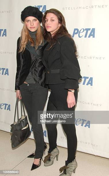 Lake Bell and Vanessa Ferlito during Olympus Fashion Week Fall 2006 Pamela Anderson Hosts PeTA's Fashion Week Bash at Stella McCartney Store in New...