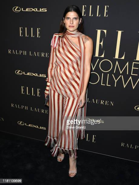 Lake Bell arrives at the 2019 ELLE Women In Hollywood at the Beverly Wilshire Four Seasons Hotel on October 14, 2019 in Beverly Hills, California.