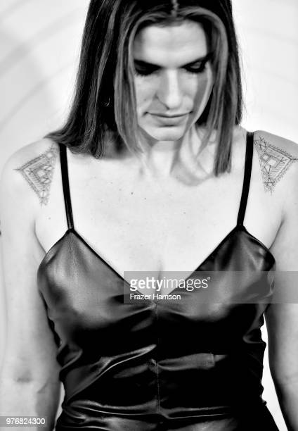 Image converted to Black and White Lake Bell arrives at The Beverly Hilton Hotel on June 13 2018 in Beverly Hills California