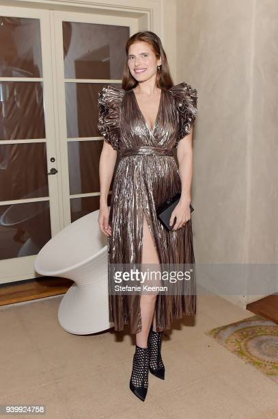 Lake Bell attends a private dinner to celebrate the One Year Anniversary of Beboe hosted by Lake Bell Lisa Eisner Assia Grazioli and David Schiff on...