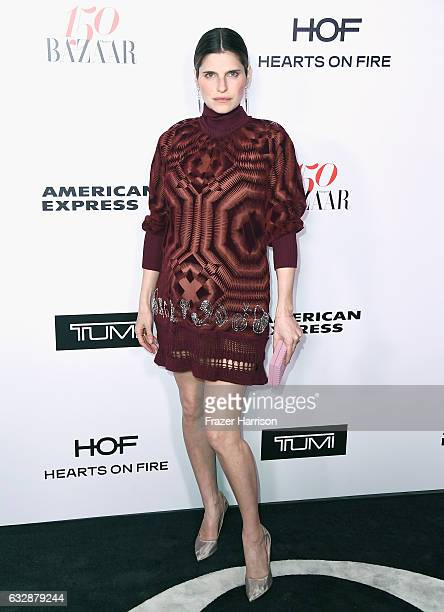 Lake Bell attends Harper's BAZAAR celebration of the 150 Most Fashionable Women presented by TUMI in partnership with American Express La Perla and...