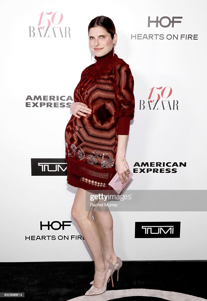 Lake Bell attends Harper's BAZAAR celebration of the 150 Most Fashionable Women presented by TUMI in partnership with American Express, La Perla, and Hearts On Fire at Sunset Tower Hotel on January 27, 2017 in West Hollywood, California.