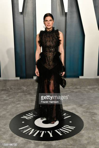 Lake Bell attends the 2020 Vanity Fair Oscar Party hosted by Radhika Jones at Wallis Annenberg Center for the Performing Arts on February 09, 2020 in...