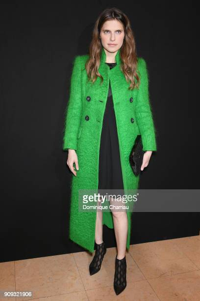 Lake Bell attends the Giorgio Armani Prive Haute Couture Spring Summer 2018 show as part of Paris Fashion Week on January 23 2018 in Paris France